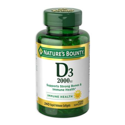 Nature's Bounty 200-Count Vitamin D 2000 IU Tablets