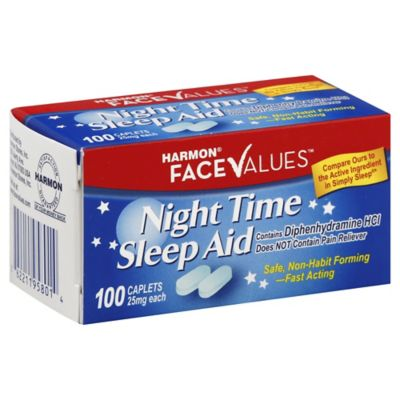 Harmon® Face Values™ Pain Free 100-Count Night Time Sleep Aid Caplets