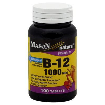 Mason Sublingual 100-Count Vitamin B-12 1000 mcg Tablets