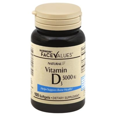 Vitamin D 100-Count 5000 IU Softgels