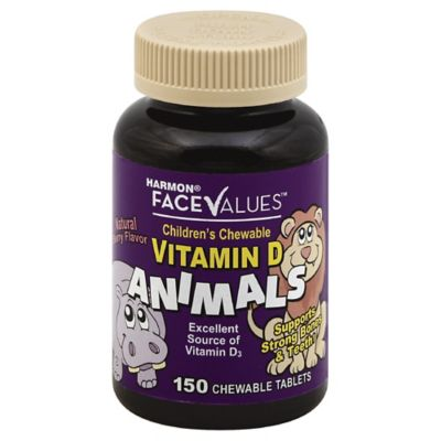 Harmon® Face Values™ 150-Count Children's Chewable 400iu Vitamin D Animal Tablets in Berry