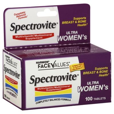 Harmon® FaceValues™ Spectrovite® 100-Count Ultra Women's Multivitamin Tablets