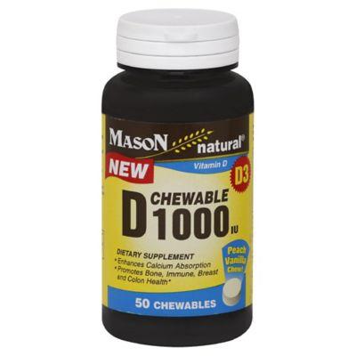 Mason Vitamin D 50-Count 1000 IU Chewables