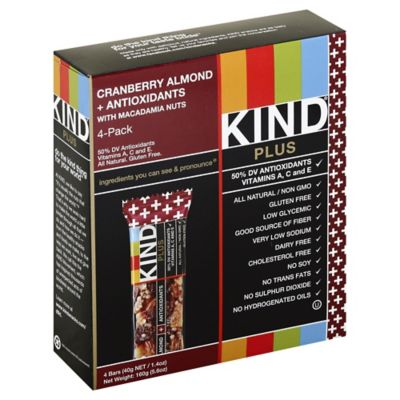 KIND® Plus 4-Pack Fruit & Nuts Bars in Cranberry Almond + Antioxidants