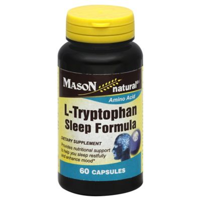 Mason Natural 60-Count L-Tryptophan Sleep Formula Capsules
