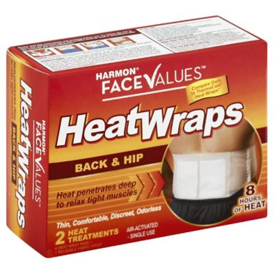 Harmon® Face Values™ 2-Pack Large Back Heat Wrap