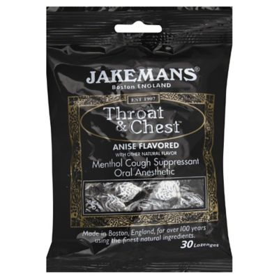 Jakemans Throat & Chest 30-Count Menthol Lozenges in Anise Licorice Flavor
