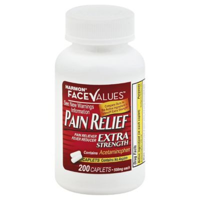 Harmon® Face Values™ 200-Count Extra-Strength Pain Relief Caplets