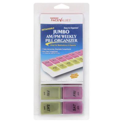 Harmon® Face Values™ Detachable Jumbo AM/PM Weekly Pill Organzier