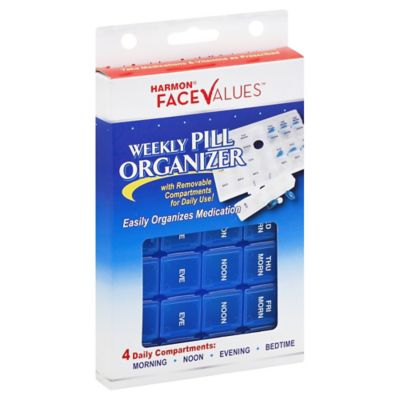 Harmon® Face Values™ Weekly Pill Organizer Box