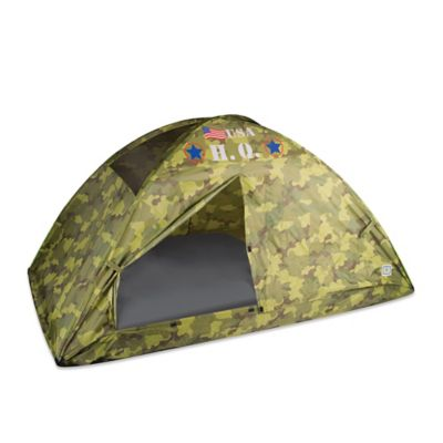 Pacific Play Tents H.Q. Camo Twin Bed Tent in Green