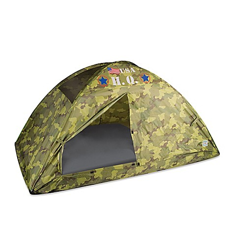 Buy Pacific Play Tents H Q Camo Twin Bed Tent In Green