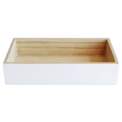 Lamont Home™ Bamboo Guest Towel Tray in White