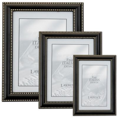 Lawrence Frames Brushed Bronze 4-Inch x 6-Inch Picture Frame with Delicate Beading