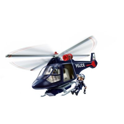 Playmobil® Police Helicopter with LED Spotlight