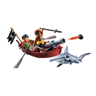 Playmobil® Pirates Rowboat Set with Shark
