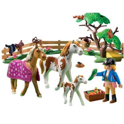 Playmobil® Paddock with Horses and Foal