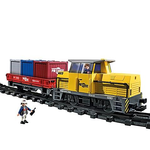 Playmobil rc freight train set bed bath beyond - Train playmobil ...