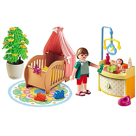 Buy Playmobil 174 Baby Room Set With Mobile From Bed Bath