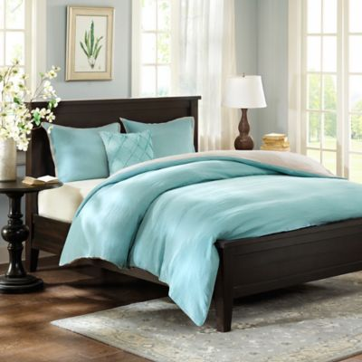 Harbor House™ Linen Reversible Full/Queen Duvet Cover Set in Blue