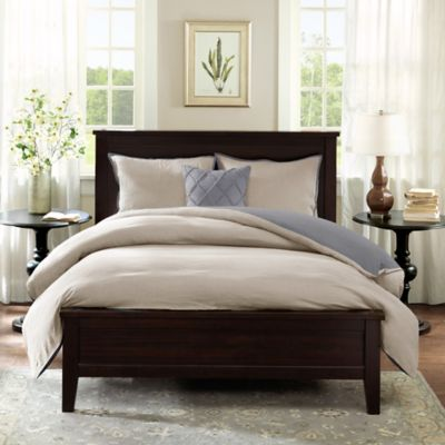 Harbor House™ Linen Reversible Full/Queen Duvet Cover Set in Grey
