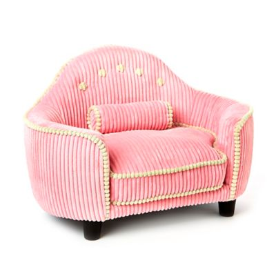 Laine Corduroy Headboard Dog Bed in Pink