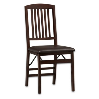 Linon Home Mission Back Folding Chair
