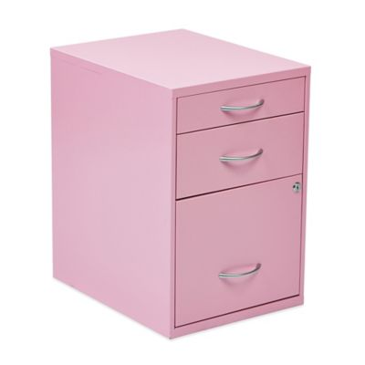 Office Star Products Pencil/Box/Storage File Cabinet in Soft Pink
