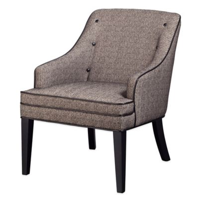 Madison Park Berkley Button Tufted Arm Chair in Chocolate