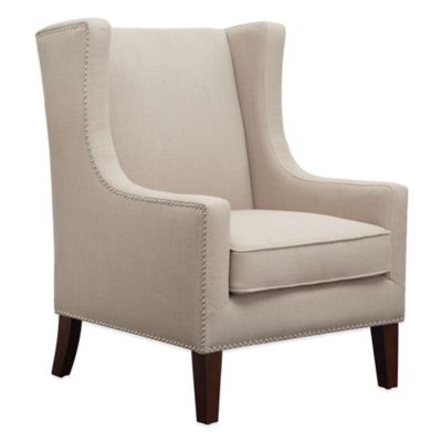 Madison Park Biltmore Wing Chair in Linen