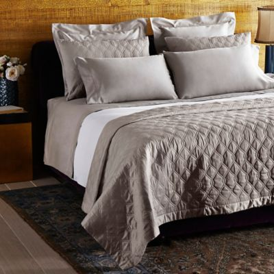 Frette At Home Orpheum Queen Coverlet in Stone