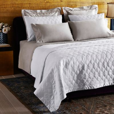Frette At Home Orpheum Standard Pillow Sham in White