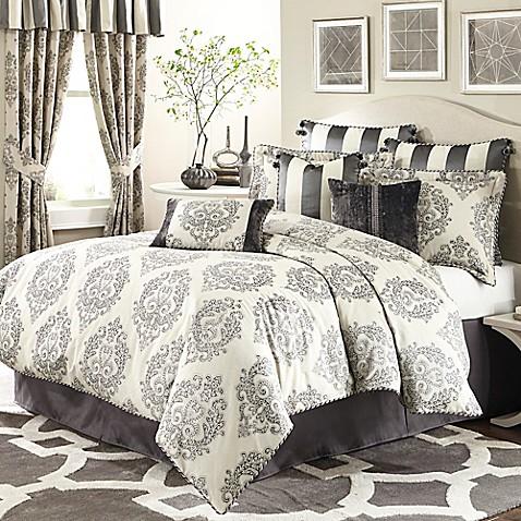 Michael Amini 174 Park Lane 4 Piece Comforter Set Bed Bath