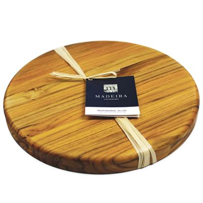 Madeira Housewares 14-Inch Round Chop Block Cutting Board in Edge Grain
