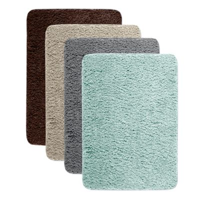 Microdry® 17-Inch x 24-Inch Quick Dry Bath Mat with GripTex™ Base in Aqua