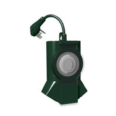 Stanley® TimeIt 3-Outlet Outdoor Timer in Green
