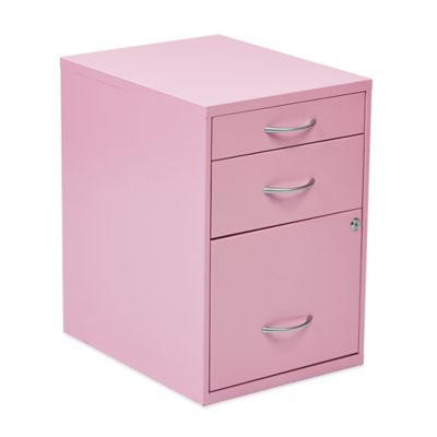 Office Star® Products 22-Inch Pencil/Box/Storage File Cabinet in Soft Pink