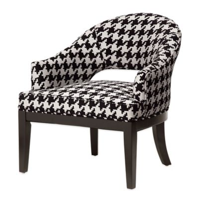 Madison Park Crystal Keyhole Tulip Arm Chair in Black