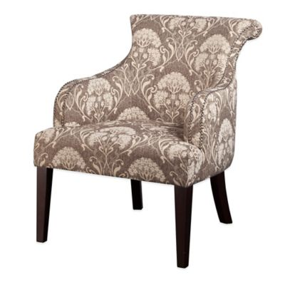 Madison Park Alexis Rollback Accent Chair in Taupe/Multi