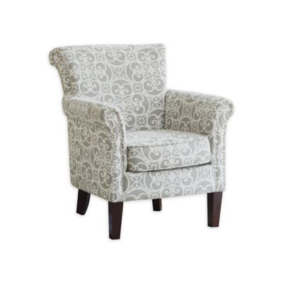 Madison Park Brooke Club Chair in Grey Doodles