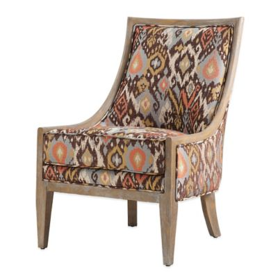 Curved Back Sloped Arm Chair