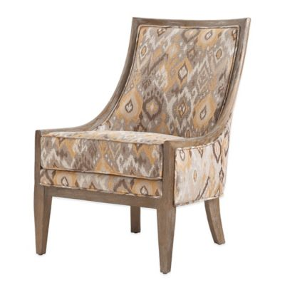 Madison Park Ellen Curved Back Sloped Arm Chair in Taupe