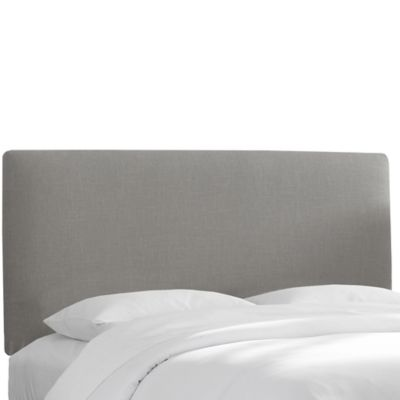 Skyline Furniture Upholstered Queen Headboard in Linen Grey