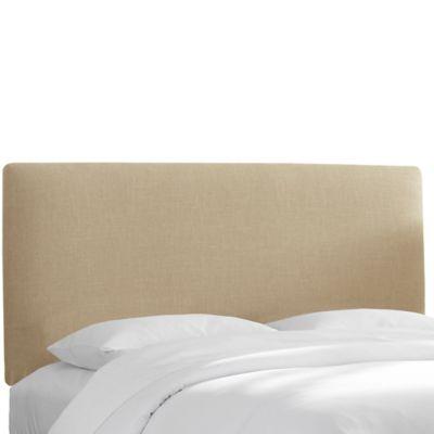 Skyline Furniture Upholstered Twin Headboard in Linen Sandstone