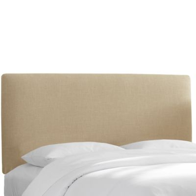 Skyline Furniture Upholstered Full Headboard in Linen Sandstone