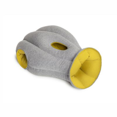 Gray Orange Travel Pillow