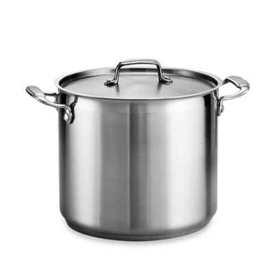 Tramontina® Gourmet 12-Quart Stainless Steel Covered Stock Pot