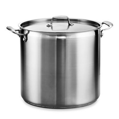 Tramontina® Gourmet 24-Quart Stainless Steel Covered Stock Pot