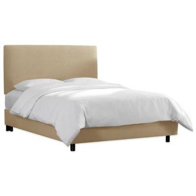 Skyline Furniture Upholstered King Bed in Linen Sandstone