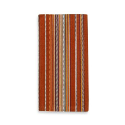 Woven Serape Stripe Napkin in Red